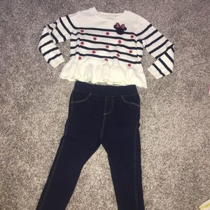 Baby gap Mickey sweater and jeggings